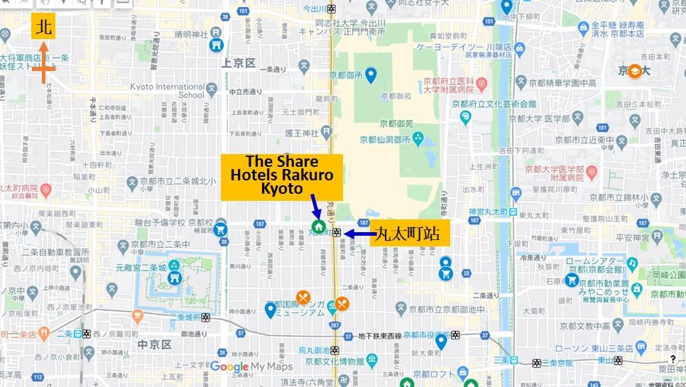 The Share Hotels Rakuro Kyoto地圖