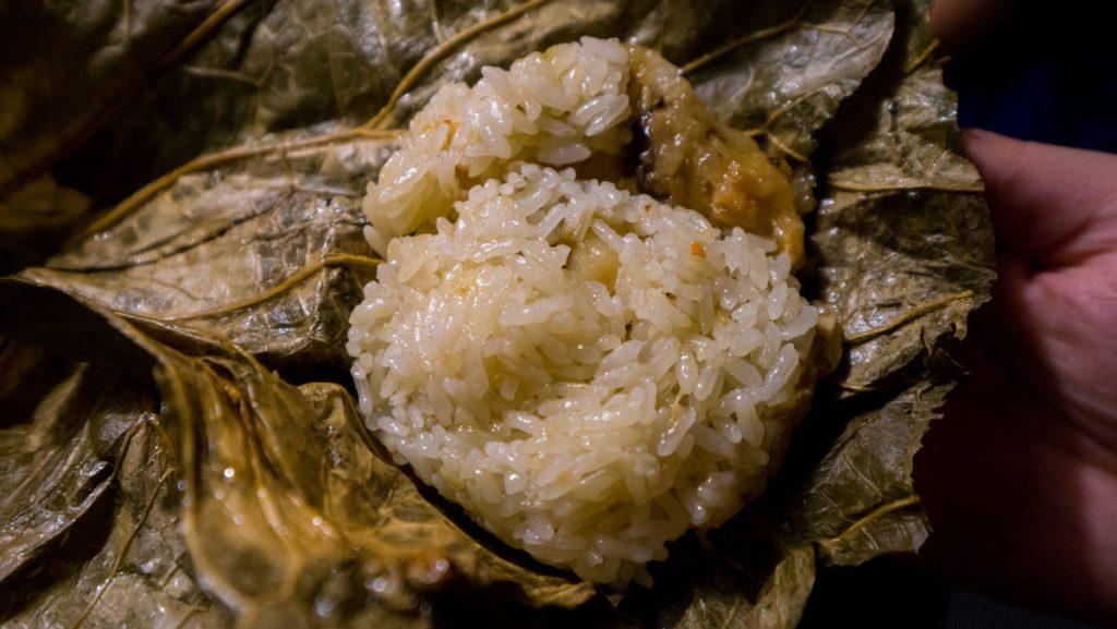 蒸鮮腸粉-干貝荷香珍珠雞