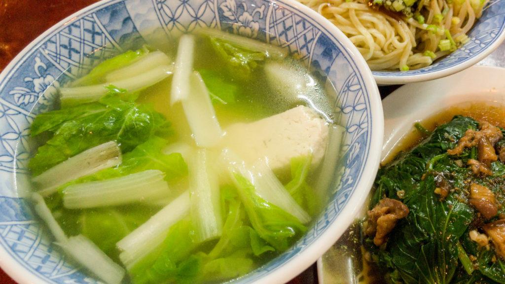 清水肉圓仔湯青菜豆腐湯