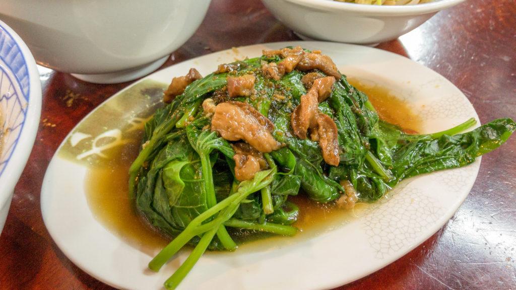 清水肉圓仔湯燙青菜