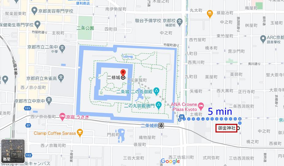 二條城_御金神社map
